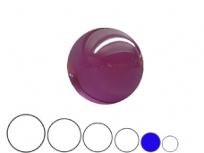Jac Products Purple Translucent 70mm Acrylic Contact Ball